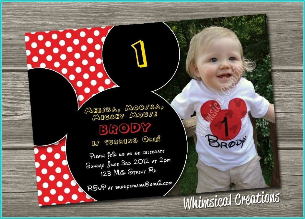 Mickey Mouse 2nd Birthday Invitations Free