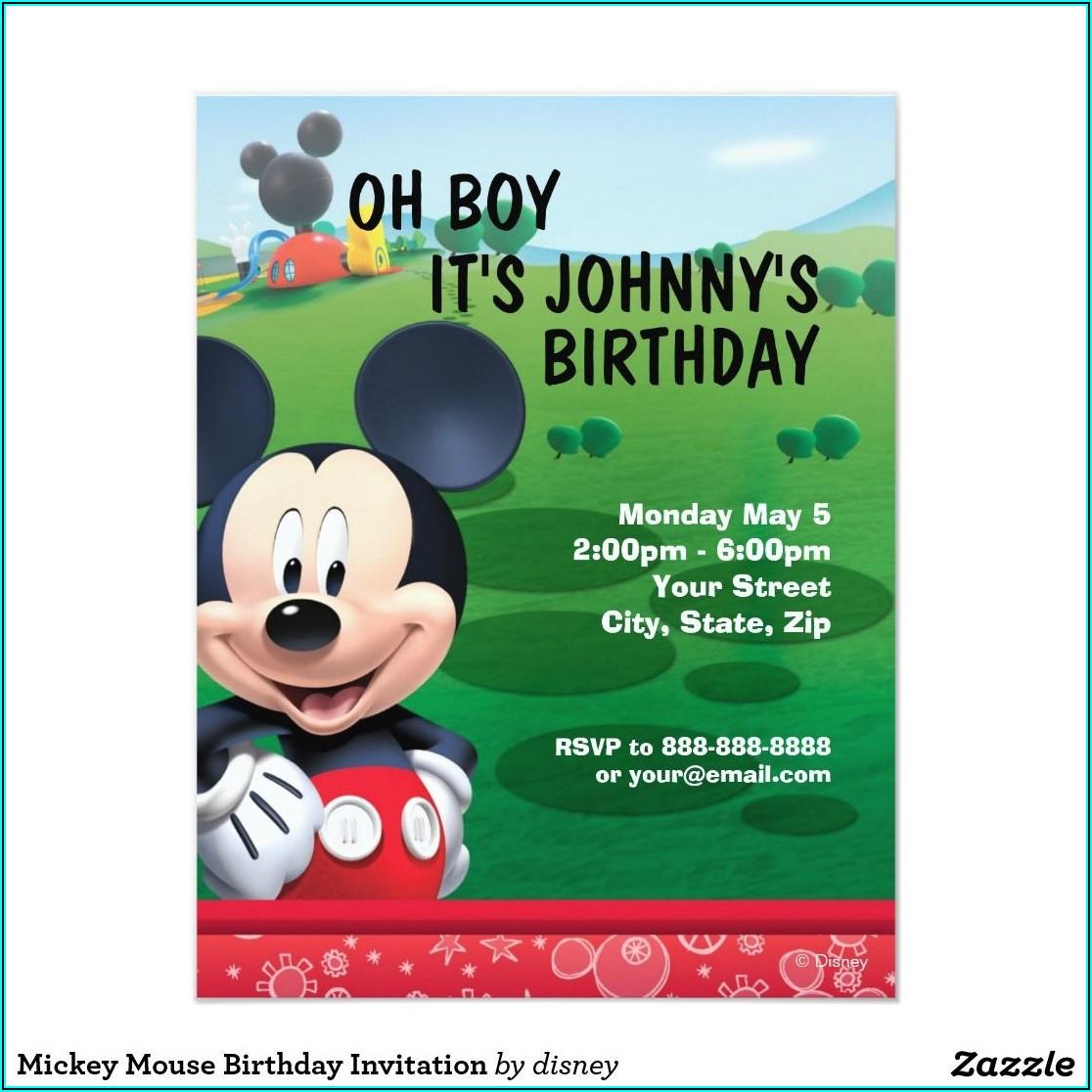 Mickey Mouse Birthday Invitations Zazzle
