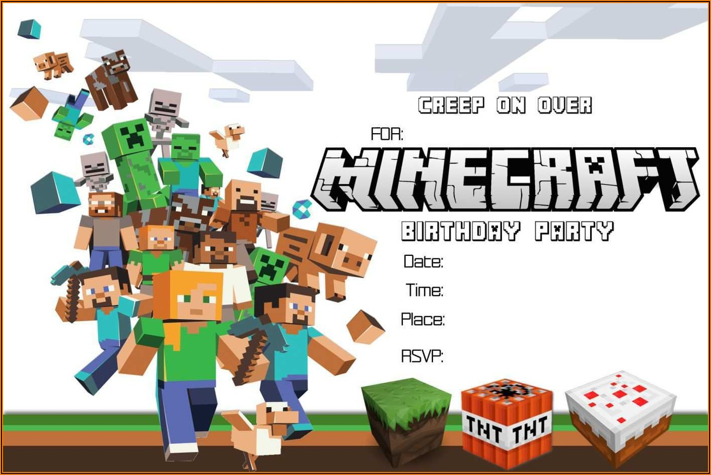 Minecraft Invitation Template