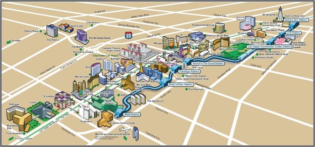 Monorail Las Vegas Map