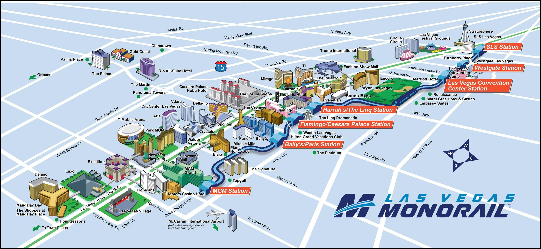 Monorail Las Vegas Mapa