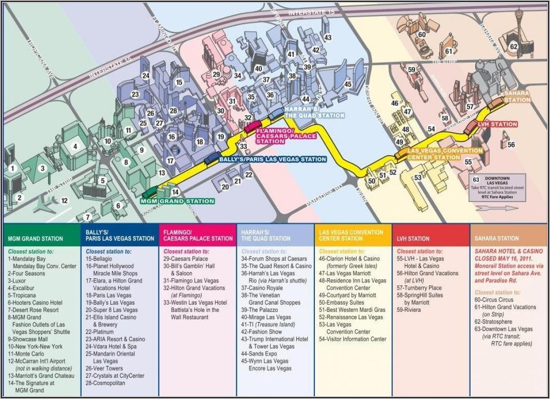 Monorail Las Vegas Route Map