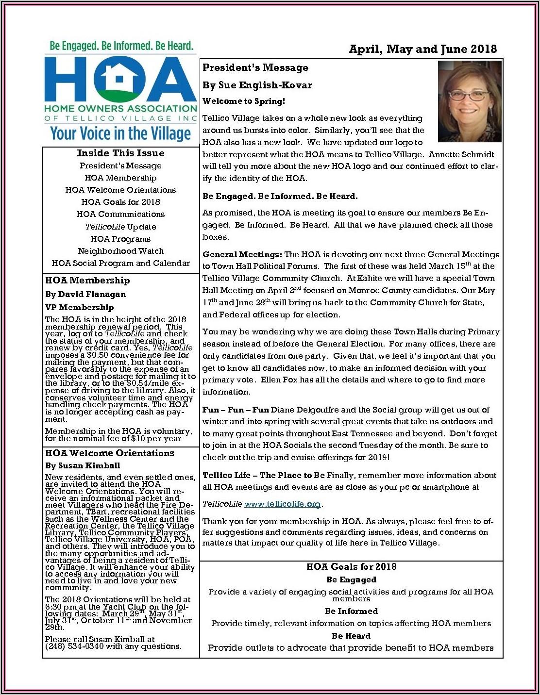 Montessori Newsletter Templates