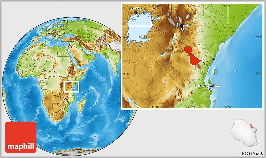 Mt Kilimanjaro Location On World Map