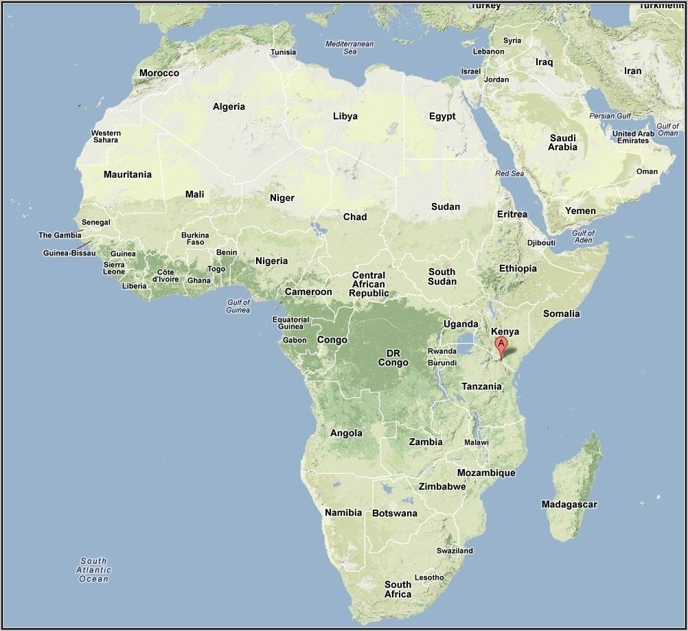 Mt Kilimanjaro Map Location