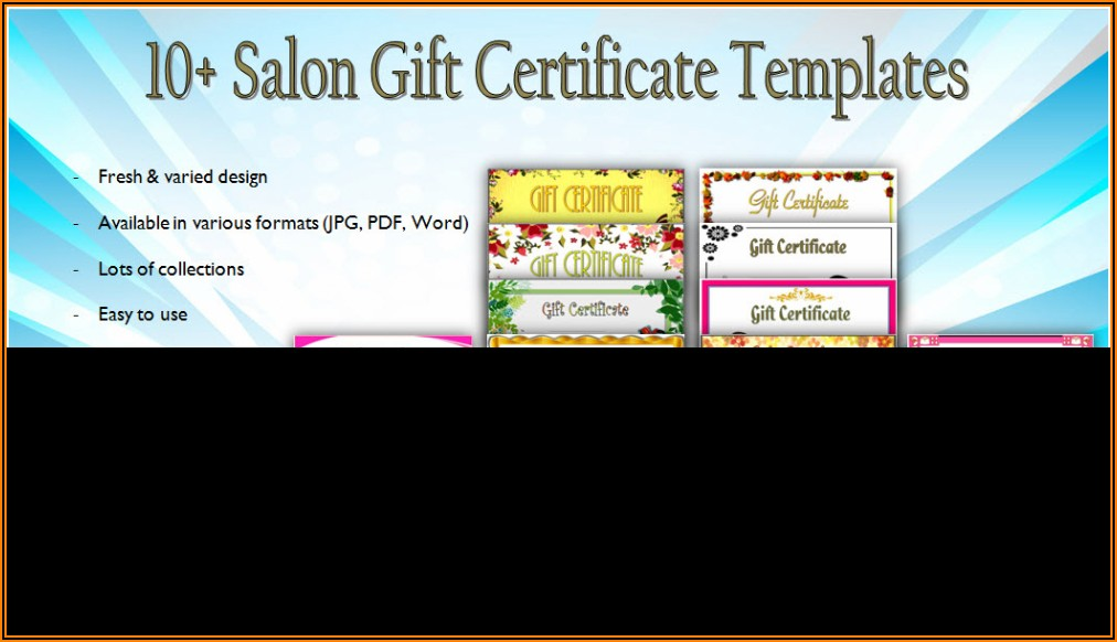 Nail Salon Gift Certificate Template Free