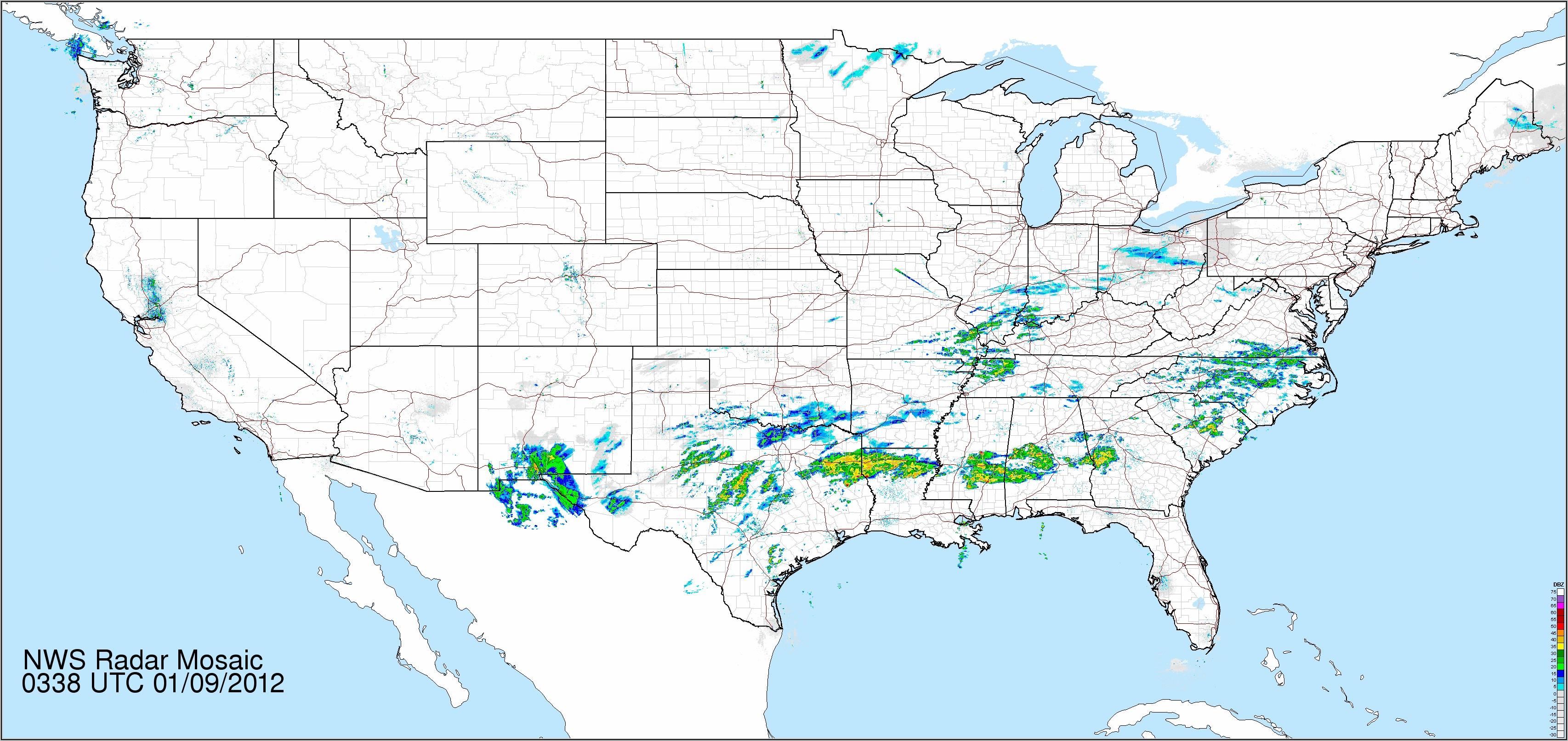 National Radar Map Loop