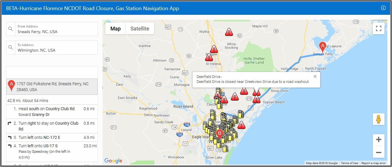 Nc Road Closures Map