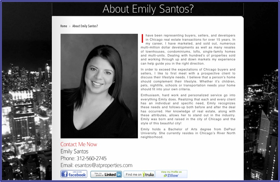 New Real Estate Agent Biography Template