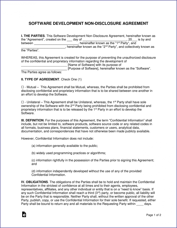Non Disclosure Agreement Template Doc