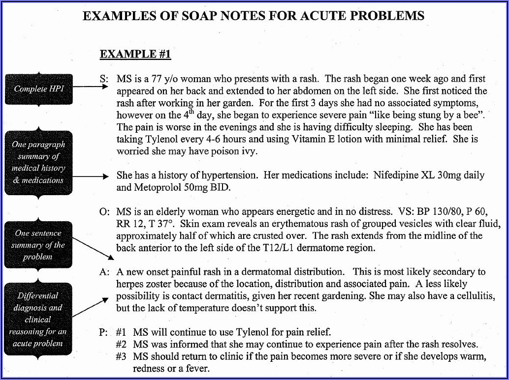 Occupational Therapy Soap Note Template