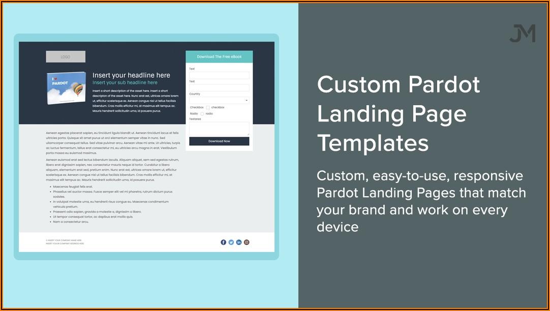 Pardot Landing Page Templates