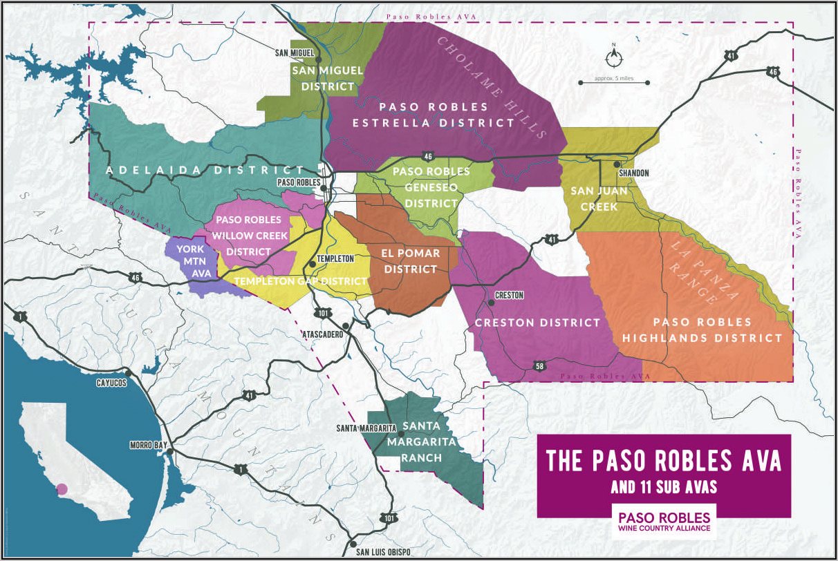 Paso Robles Westside Wineries Map