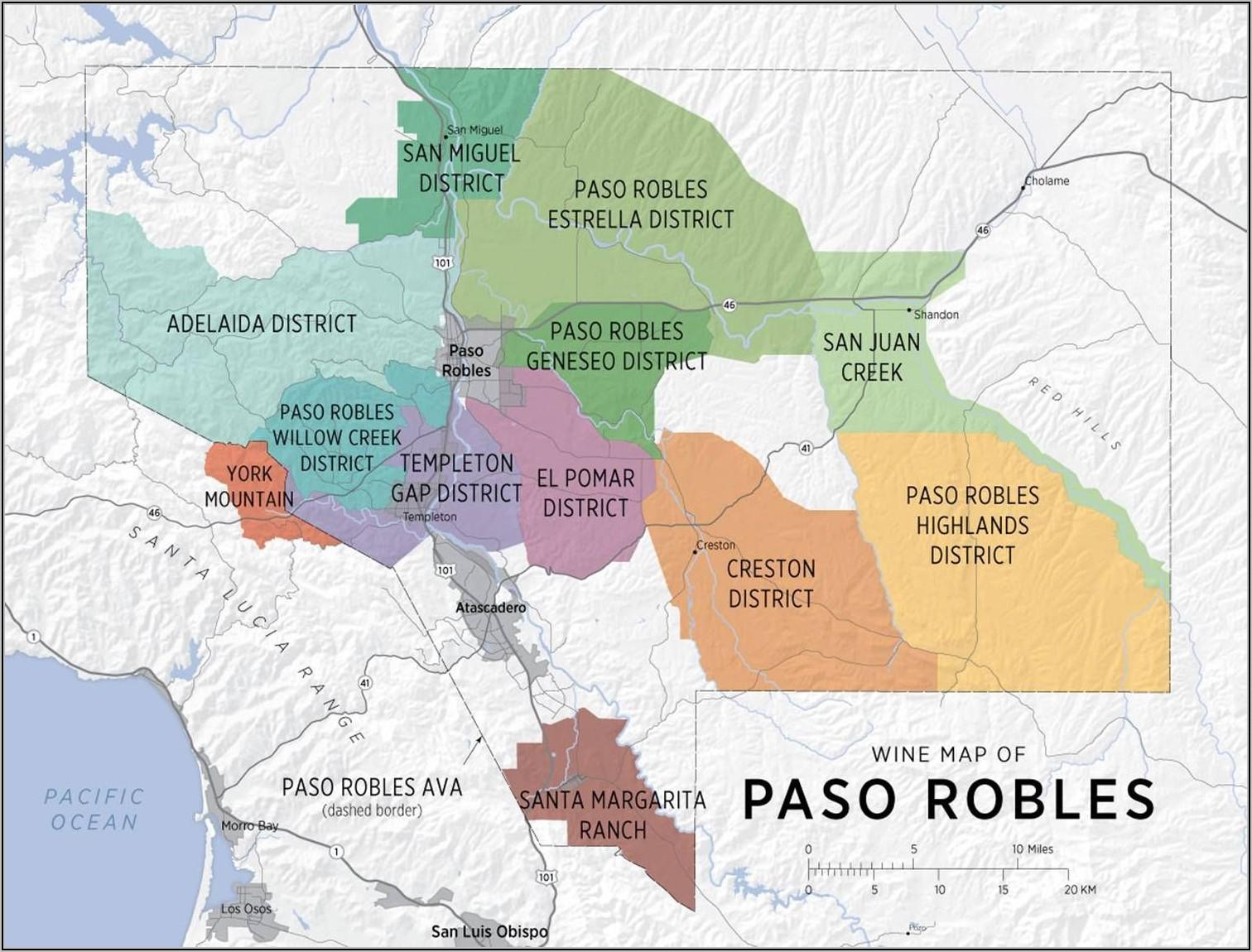 Paso Robles Wine Region Map