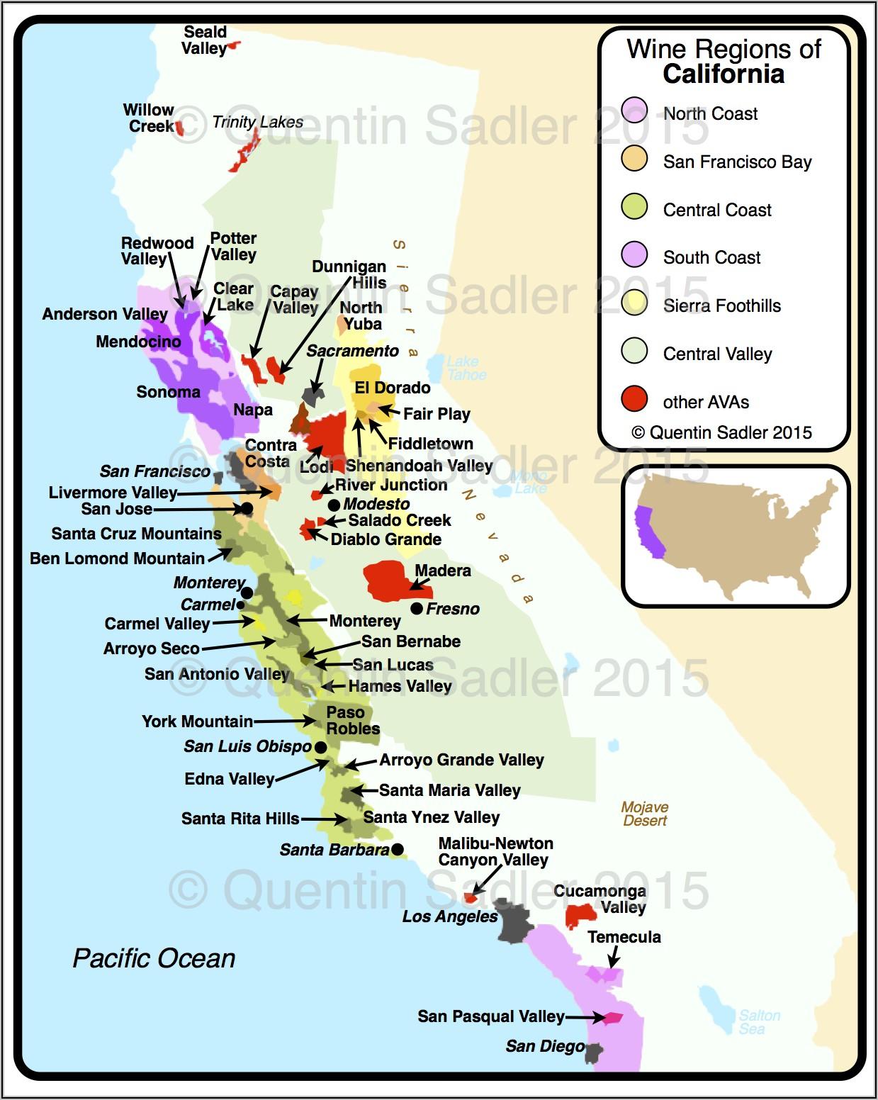 Paso Robles Winery Map Pdf
