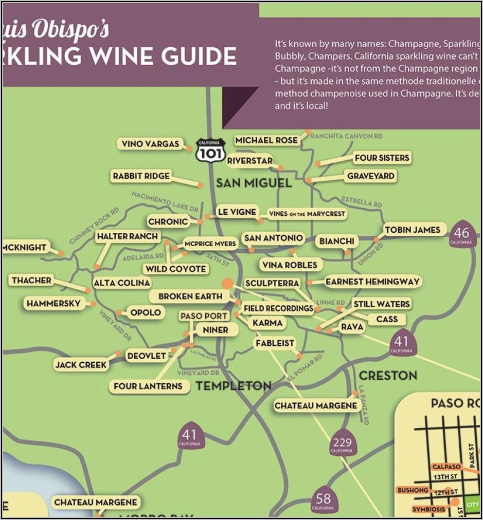 Paso Robles Winery Map