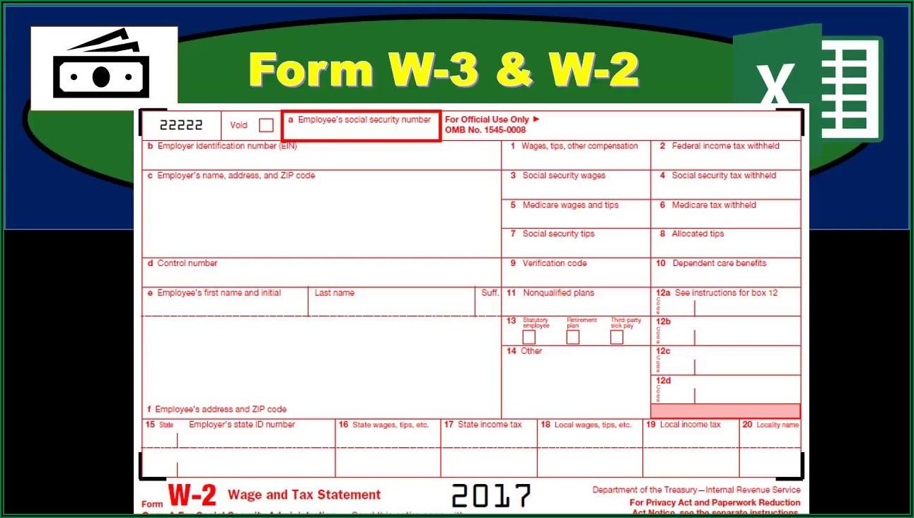 Payroll W 2 Form