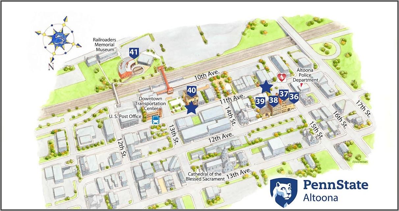 Penn State Altoona Campus Map