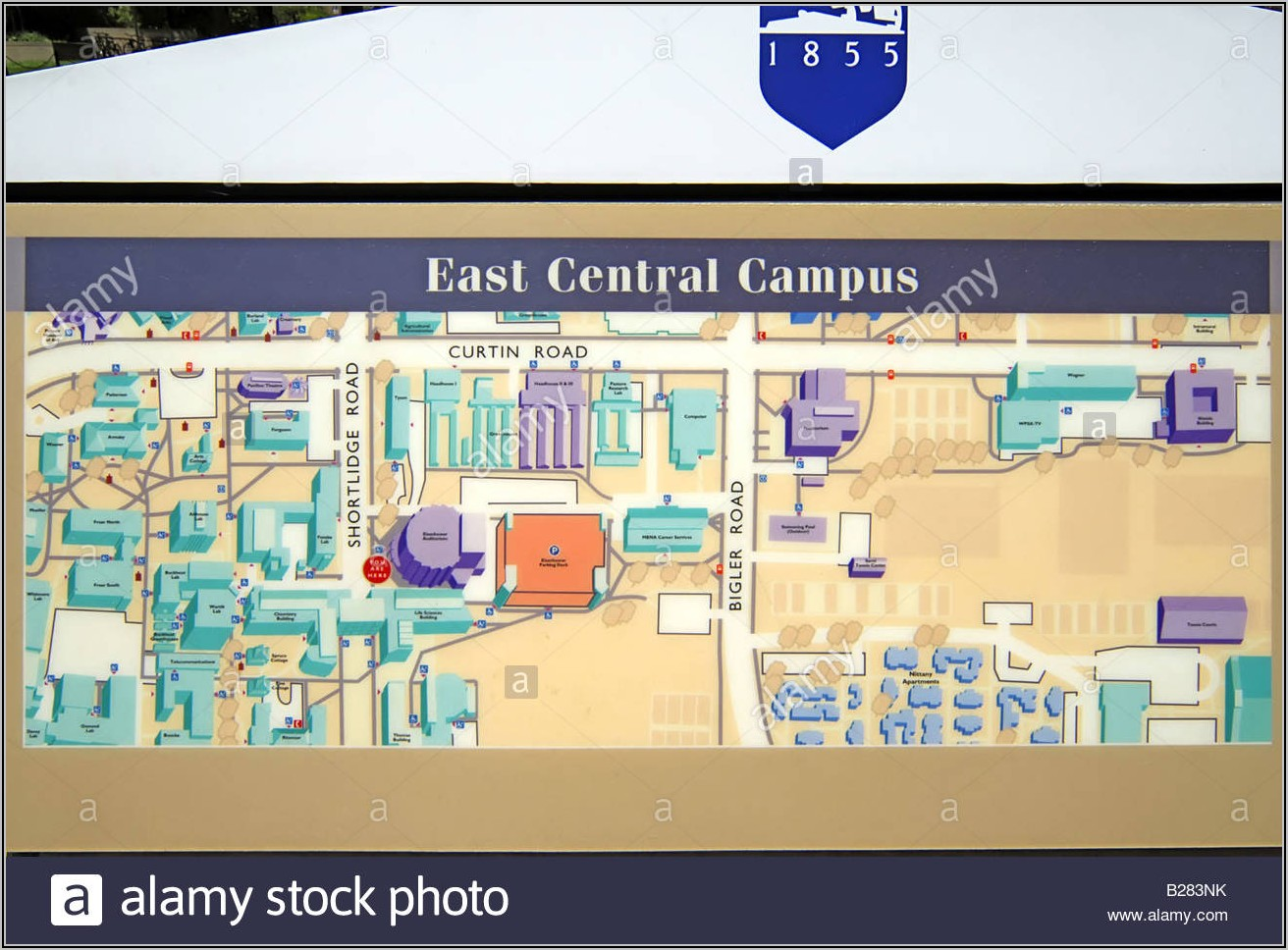 Penn State Campus Map 1980s