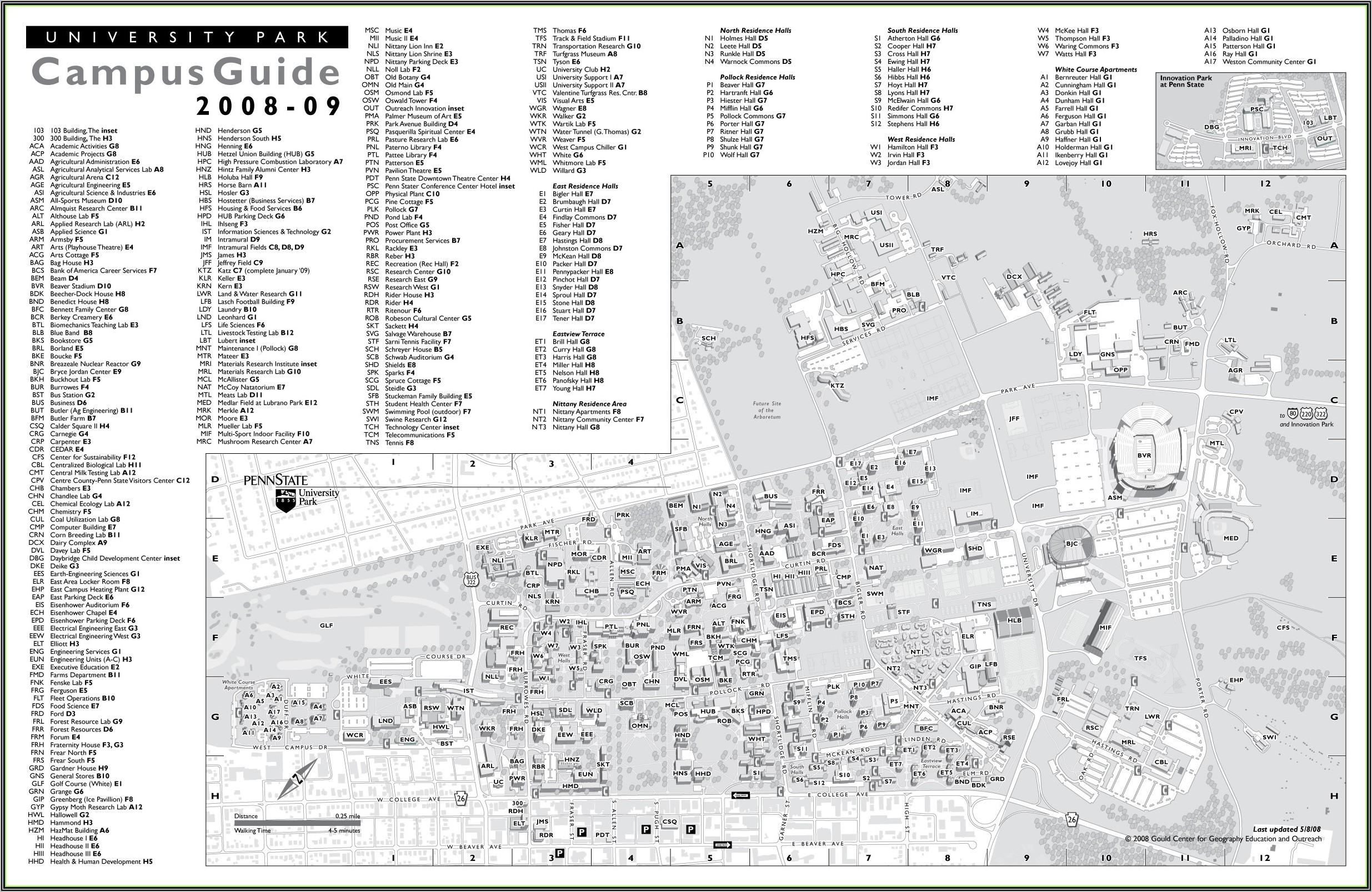 Penn State Campus Map Pdf