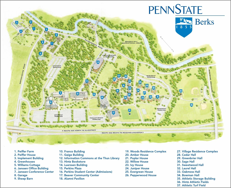 Penn State Campus Map Printable