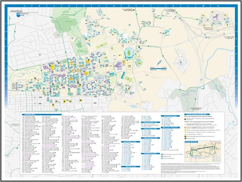Penn State Campus Map University Park