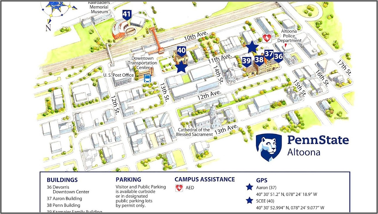 Penn State Harrisburg Campus Map Pdf