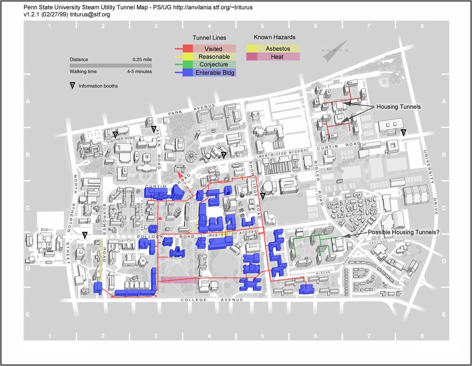 Penn State Main Campus Dorm Map