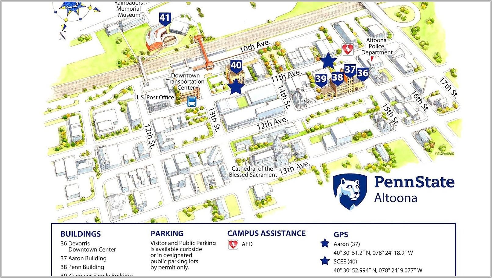 Penn State Main Campus Map Pdf