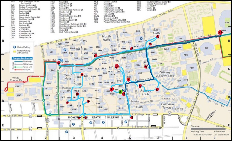 Penn State Main Campus Map