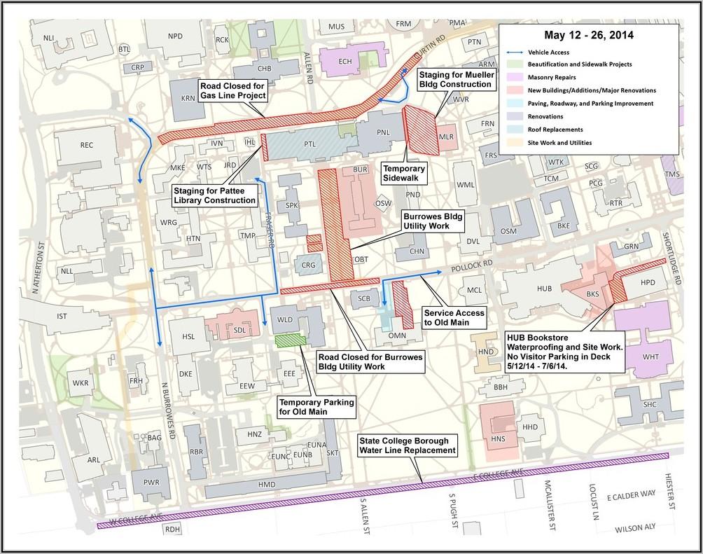 Penn State University Campus Map Pdf