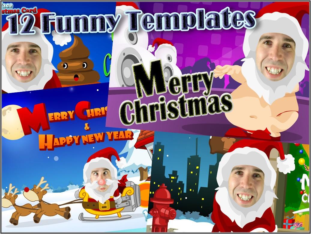 Photoshop Christmas Card Templates Funny