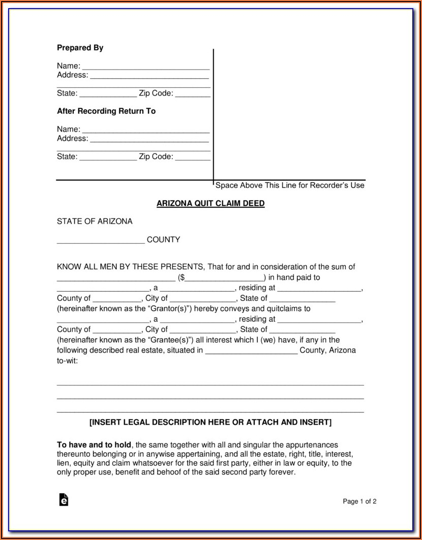 Pinellas County Quit Claim Deed Form