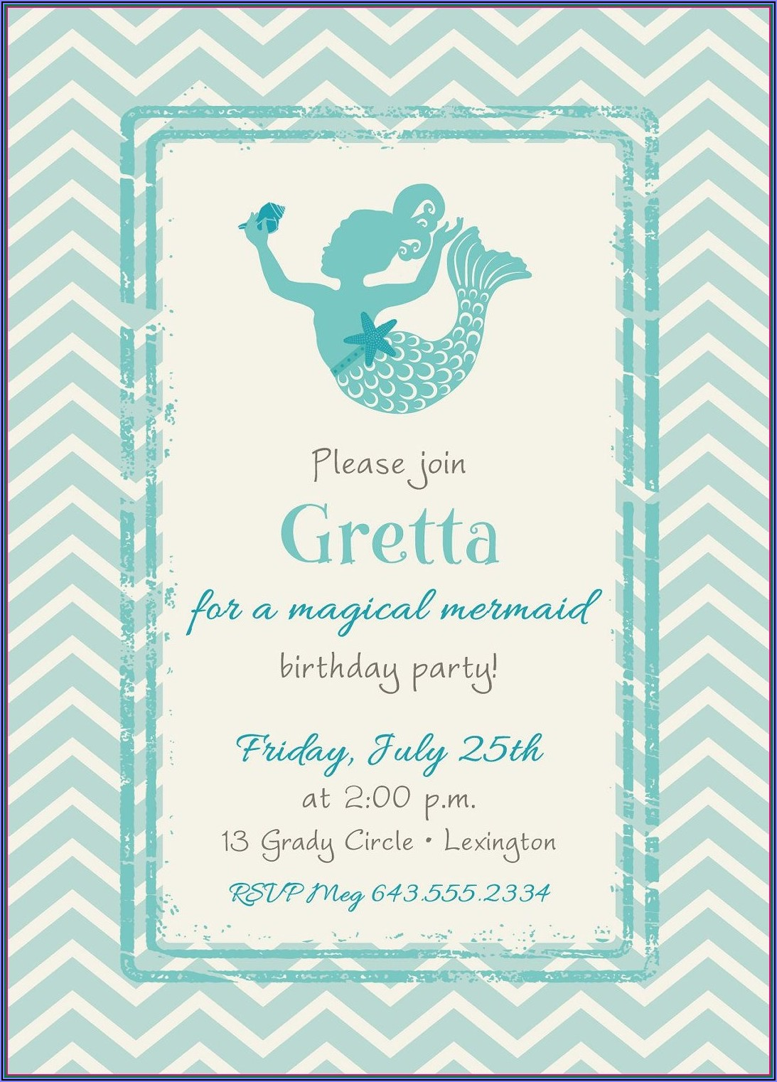 Pirate And Mermaid Free Printable Invitations