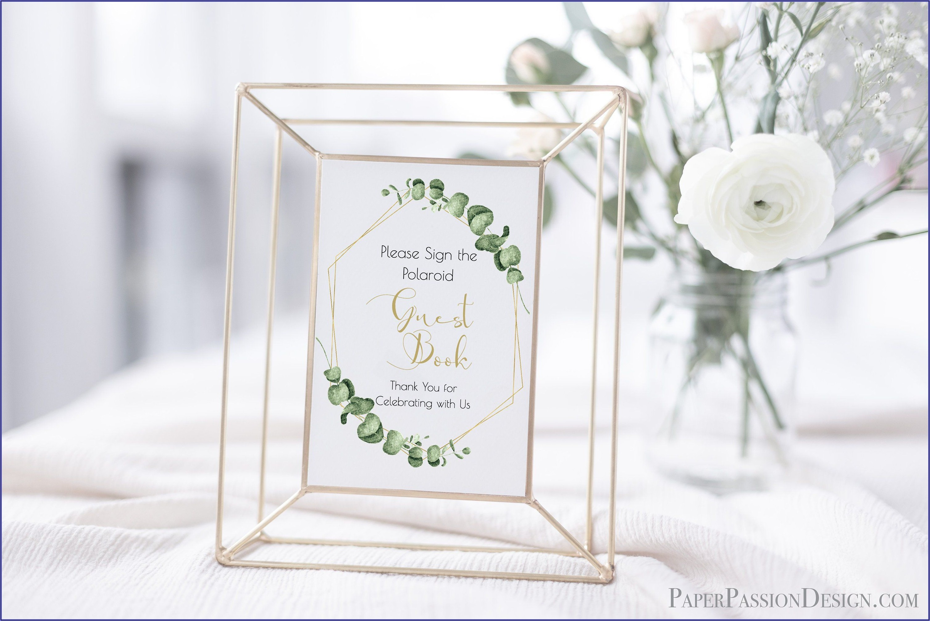 Polaroid Guest Book Sign Template