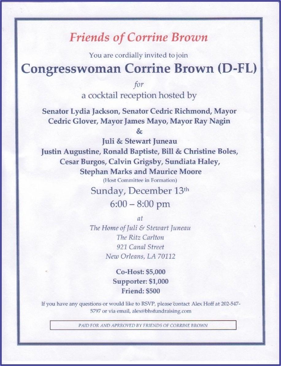 Political Fundraiser Invitation Wording