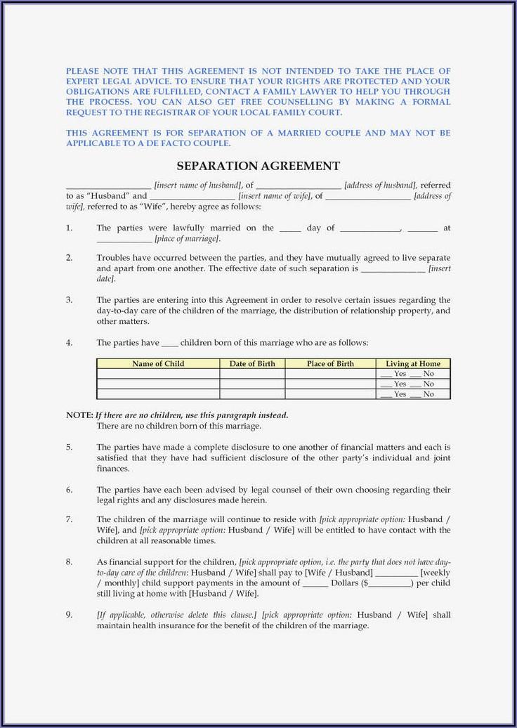 Prenuptial Agreement Form Pdf