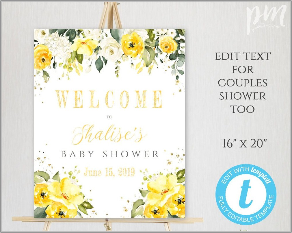 Printable Baby Shower Welcome Sign Template