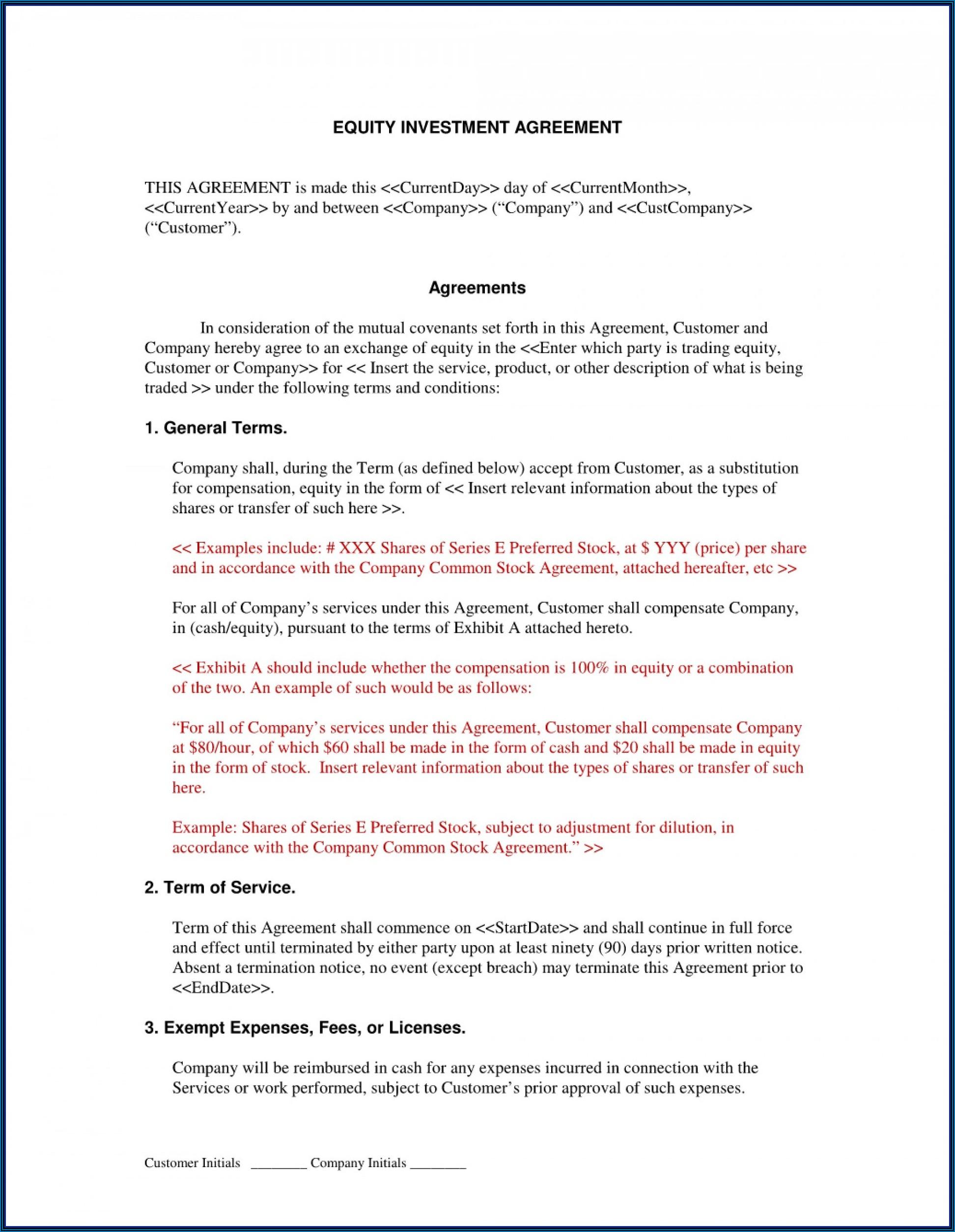 Printable Equipment Loan Agreement Template