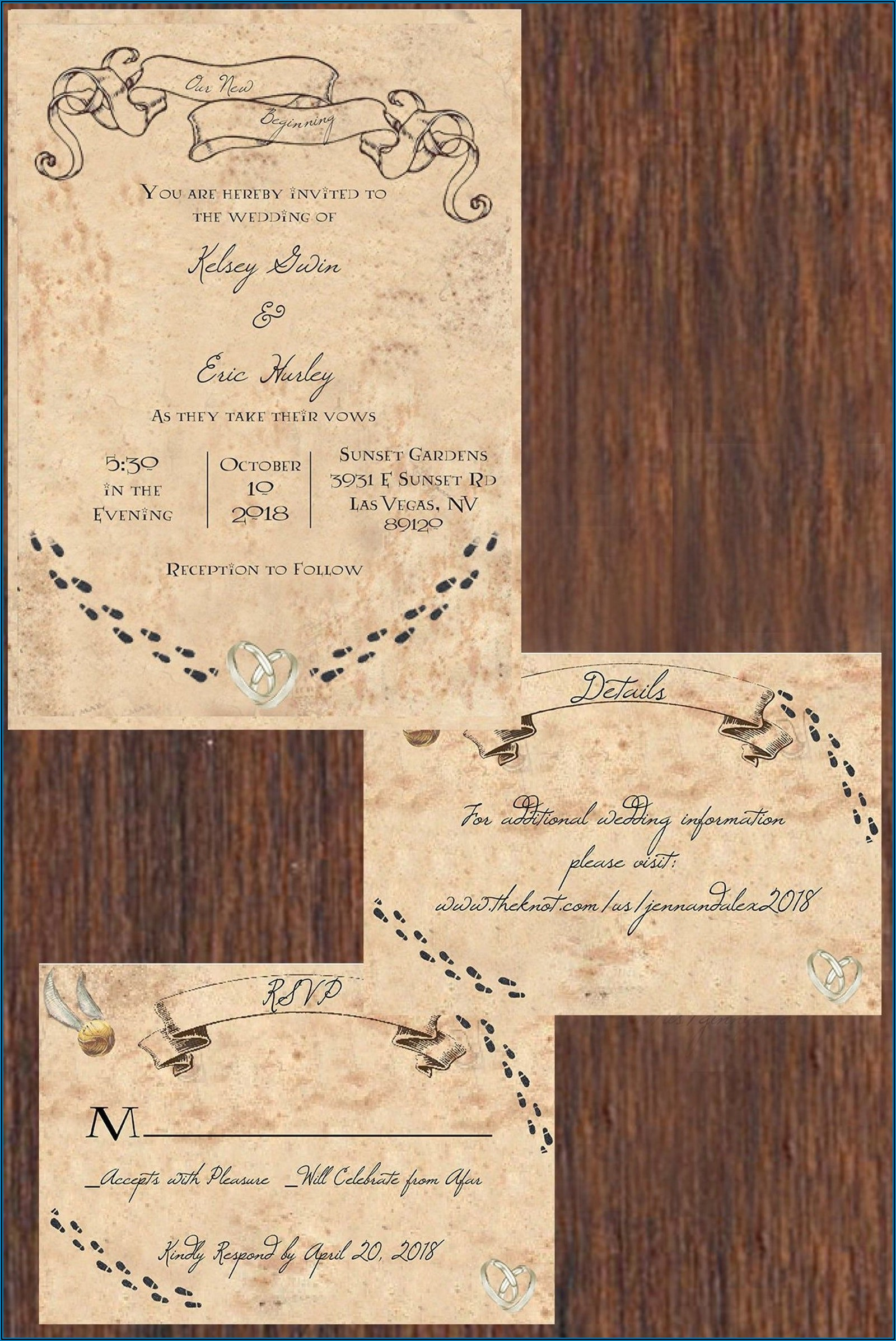 Printable Harry Potter Wedding Invitations