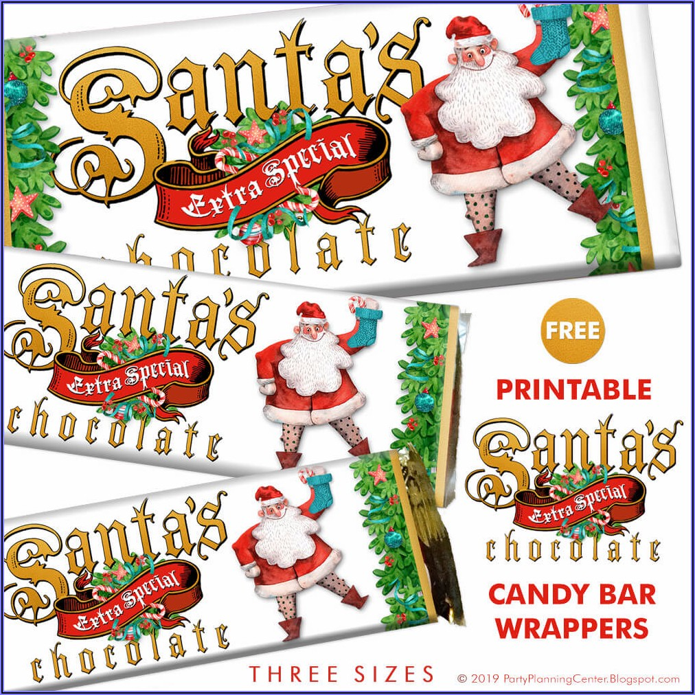 Printable Hershey Candy Bar Wrapper Template Free