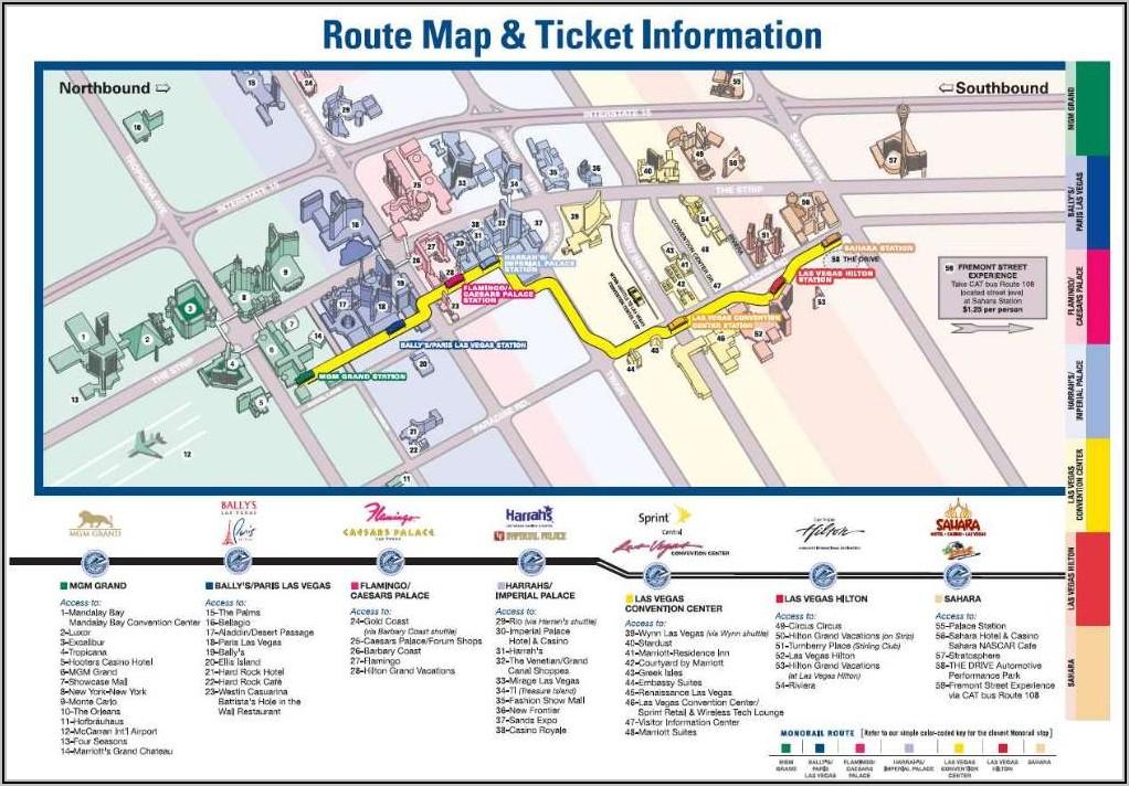 Printable Las Vegas Monorail Map