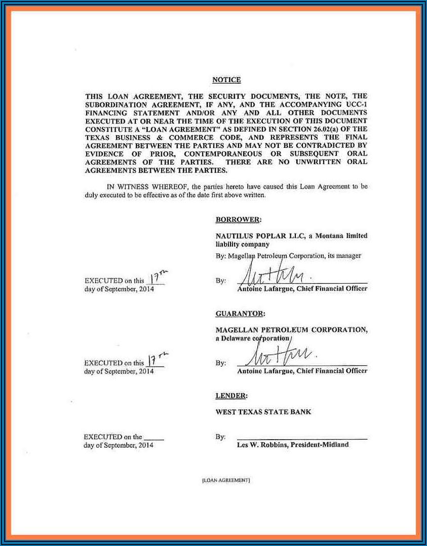 Printable Loan Agreement Template Australia
