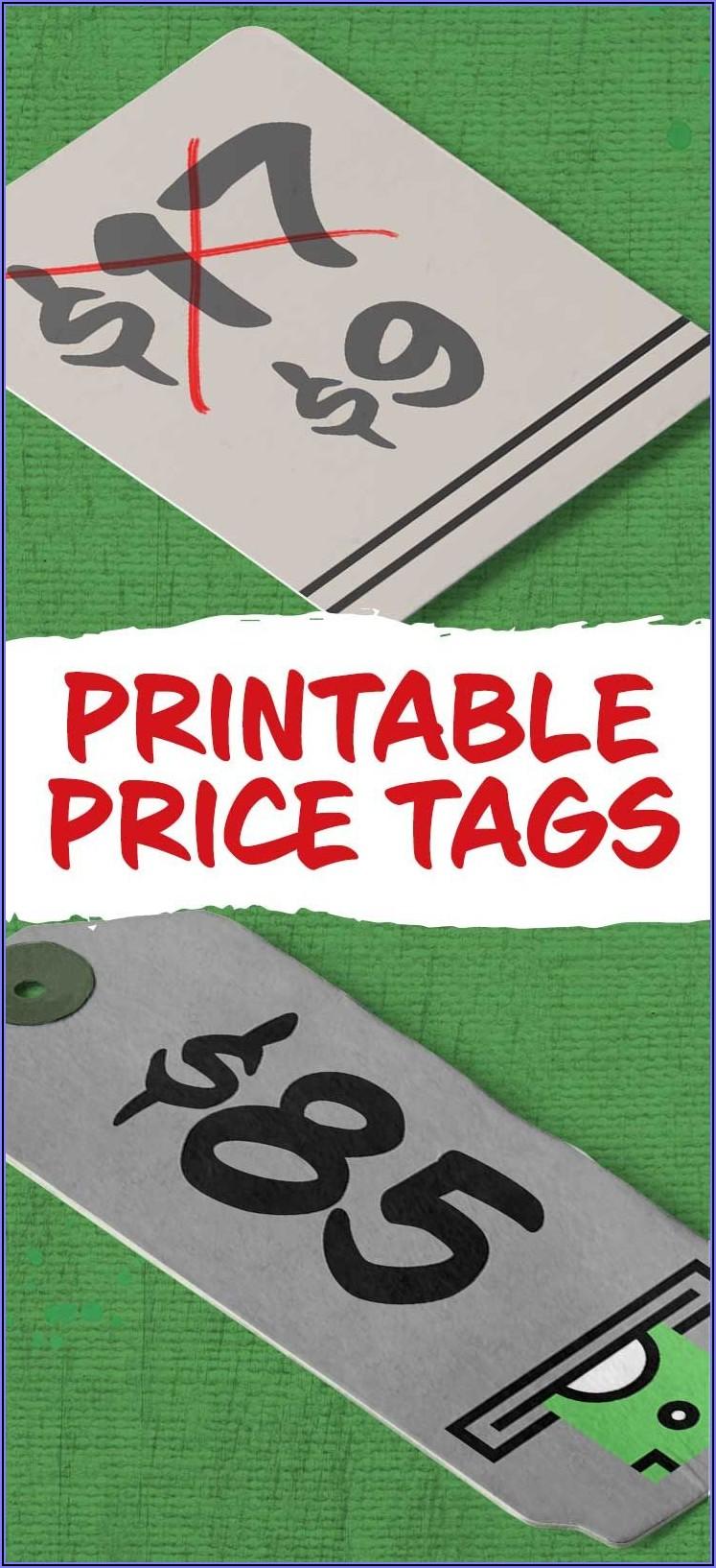 Printable Price Tags Template Free