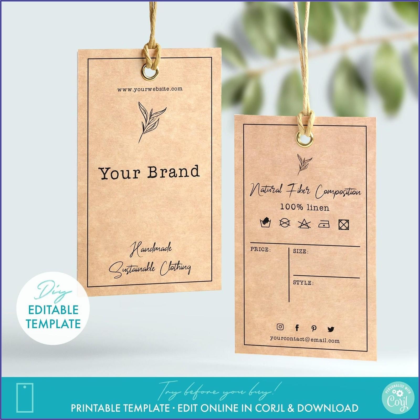 Printable Price Tags Template