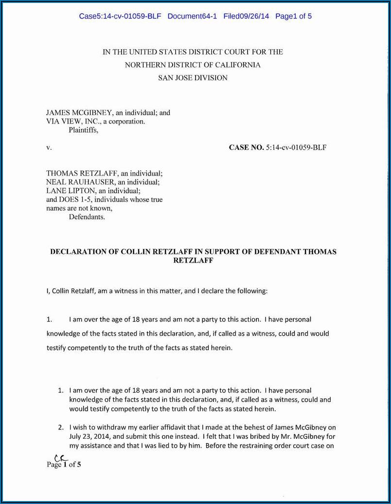 Printable Small Estate Affidavit Form