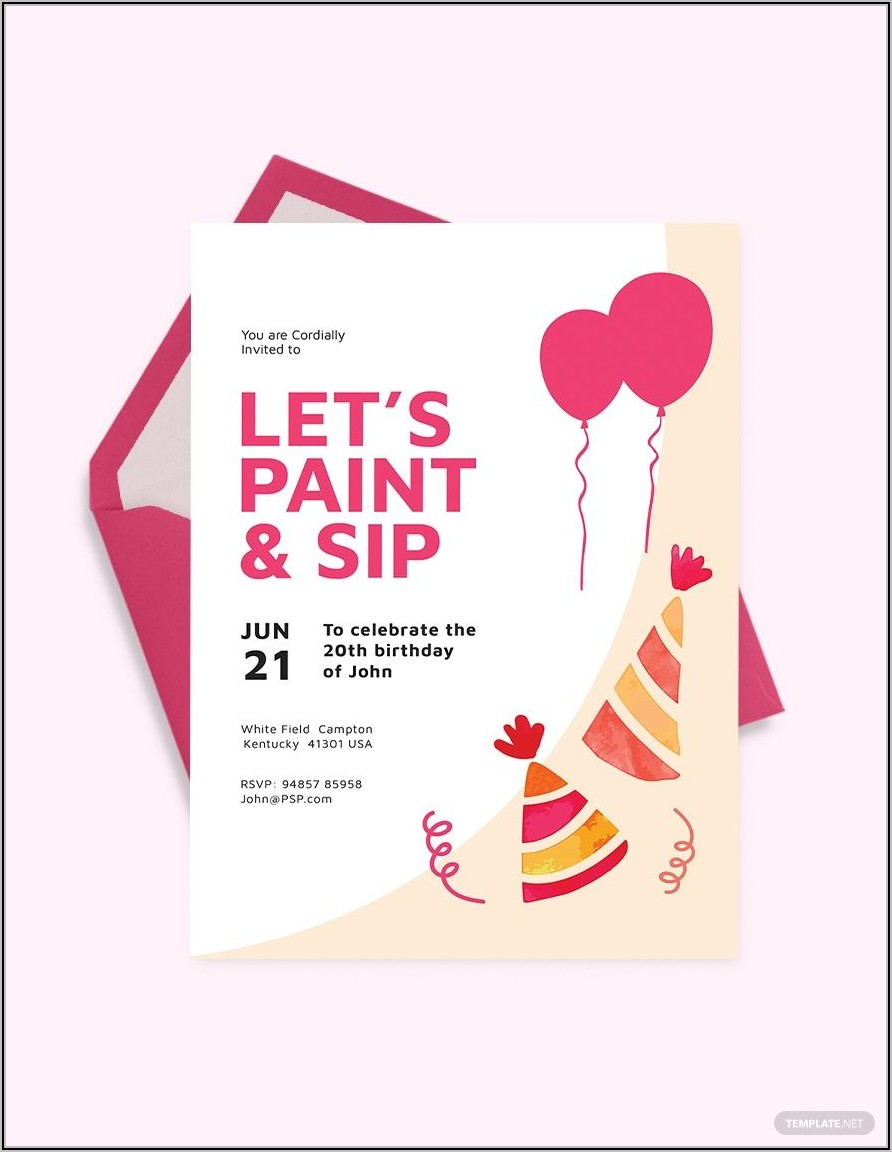 Publisher Templates For Birthday Invitations