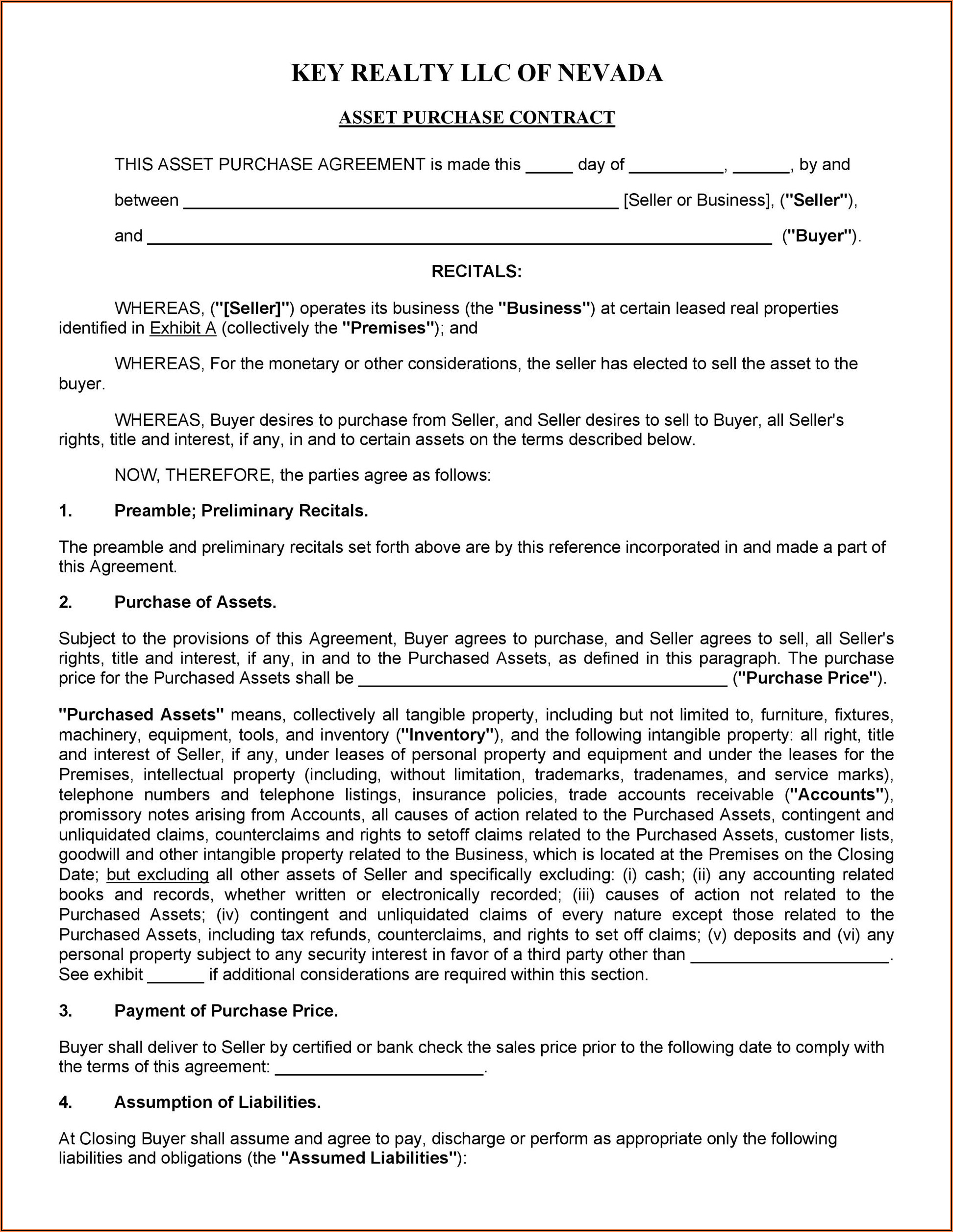 Real Estate Sales Contracts Forms