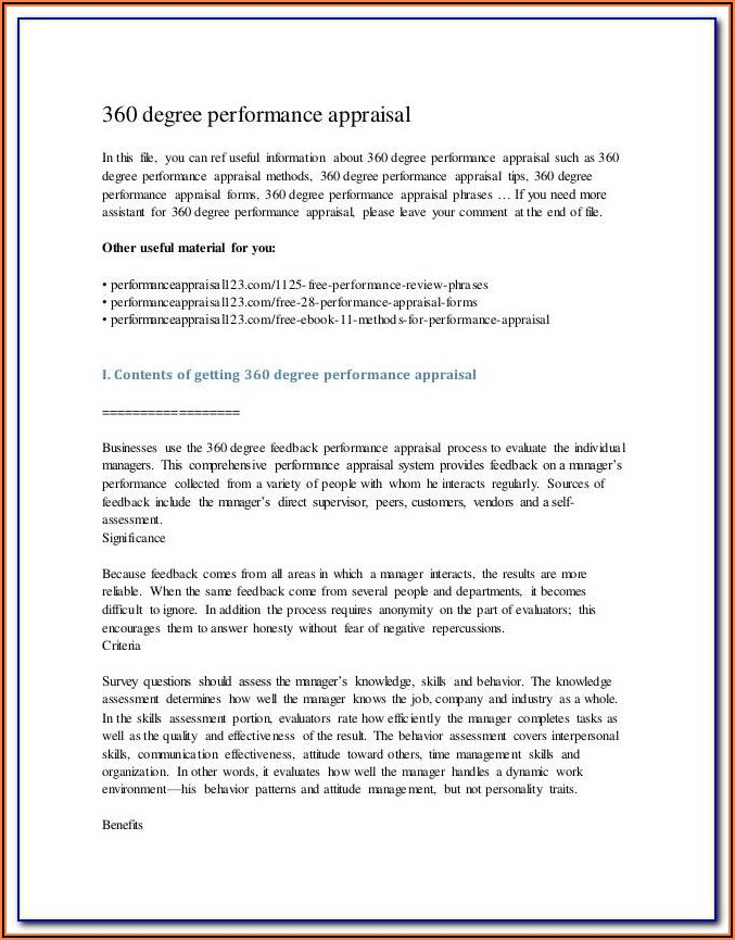 Receptionist Performance Evaluation Form