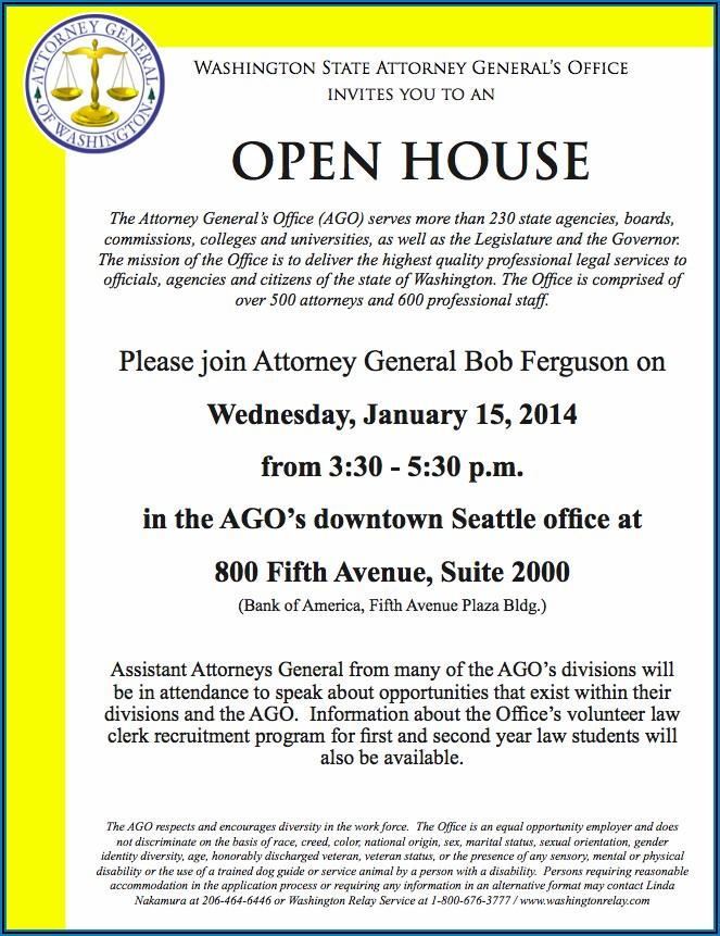 Recruitment Open House Invitation Template